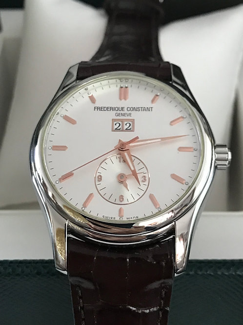 Frederique Constant Classic Index Dual Time Big Date Automatic 43mm Complete Set