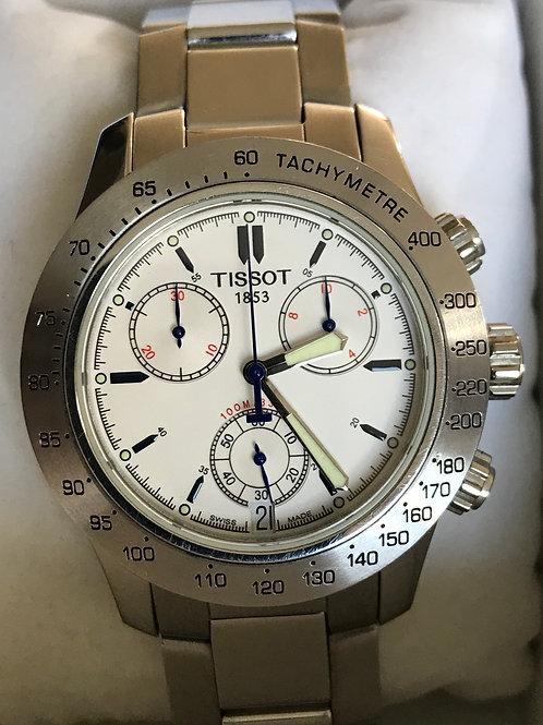 Tissot V8 Chronograph Quartz Michael Owen LTD ED White Dial RARE SOLD