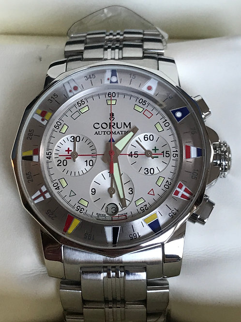 Corum Admiral's Cup Chronograph Automatic 44mm Complete Set MINT