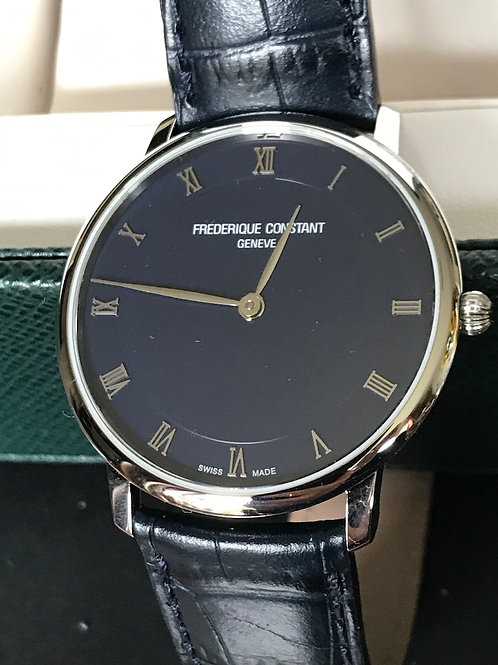 Frederique Constant Slimline Blue Dial 40mm Quartz BRAND NEW SOLD