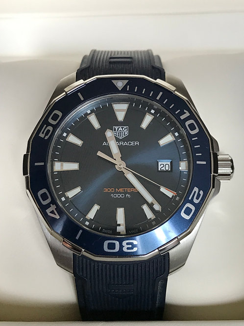 TAG Heuer Aquaracer 43mm Quartz Blue Dial LNIB Under TH Warranty SOLD