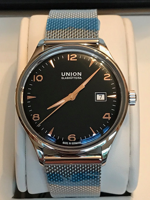 Union Glashütte Noramis Date Automatic Black Dial Rose Gold Index SOLD
