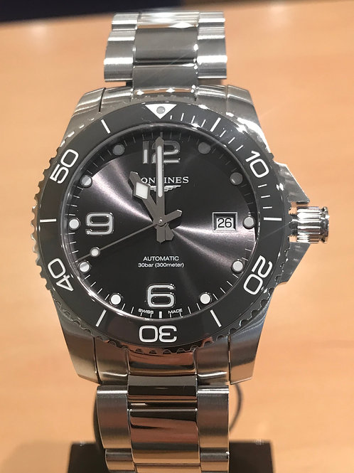 Longines HydroConquest Ceramic Grey 43mm Steel Bracelet