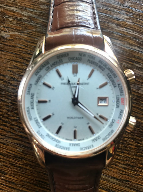 Frederique Constant Worldtime GMT Rose Gold Plated SOLD