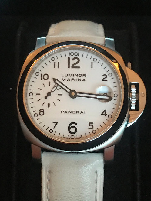 Panerai Luminor Marina Automatic 40mm White Dial LTD ED Complete Set SOLD