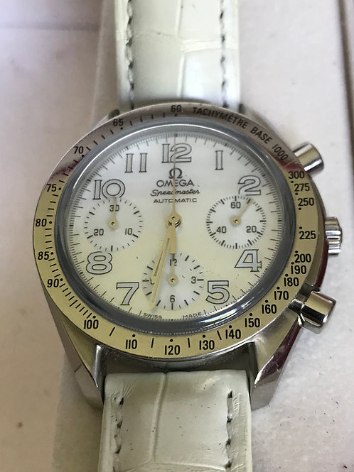 Omega Speedmaster Automatic 39mm White MOP Dial Complete Set Great Condition