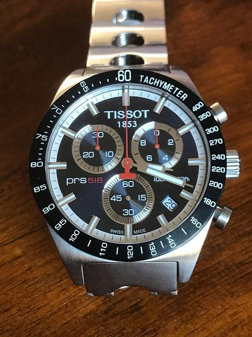 Tissot PRS 516 Chronograph Blue Dial Quartz Racing Bracelet 42mm RARE SOLD