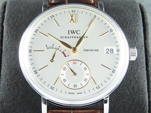 IWC Portofino 8 Days Manual Wind 45mm Silver Dial Serviced 2 Years Warranty Comp