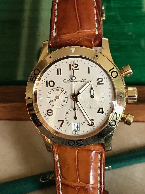 Breguet Type XX Transatlantique Yellow Gold Cream Dial 39mm SOLD