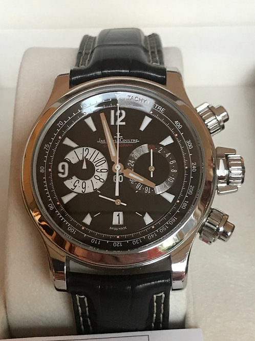 Jaeger-LeCoultre Master Compressor Chronograph + 2 Extra New Leather Straps SOLD