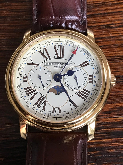 Frederique Constant Classics Business Timer Yellow Gold Plated Complete Set SOLD