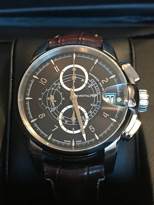 Hamilton Railroad Automatic Chronograph 46mm Serviced + Polished Complete SOLD