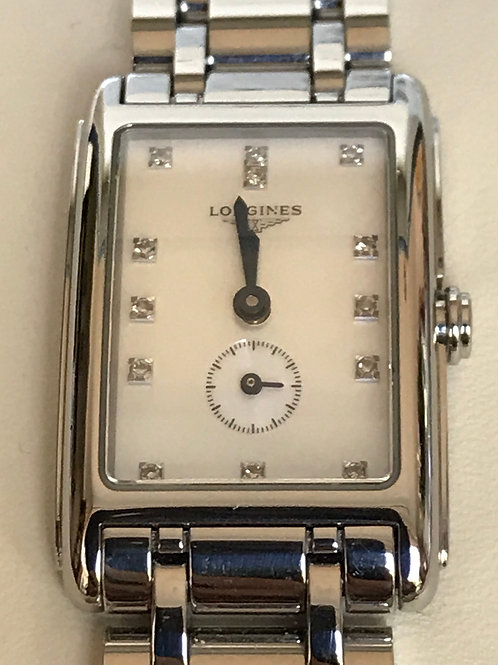 Longines DolceVita Steel Diamond Dial Complete Set New Battery SOLD