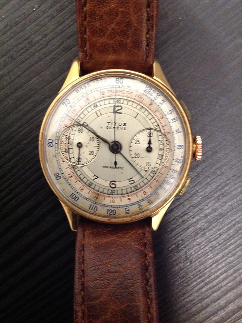 Titus Geneve Manual Chronograph Caliber Landeron