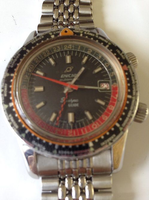 Enicar Sherpa Guide Worldtimer GMT Incredibly Rare RESERVED