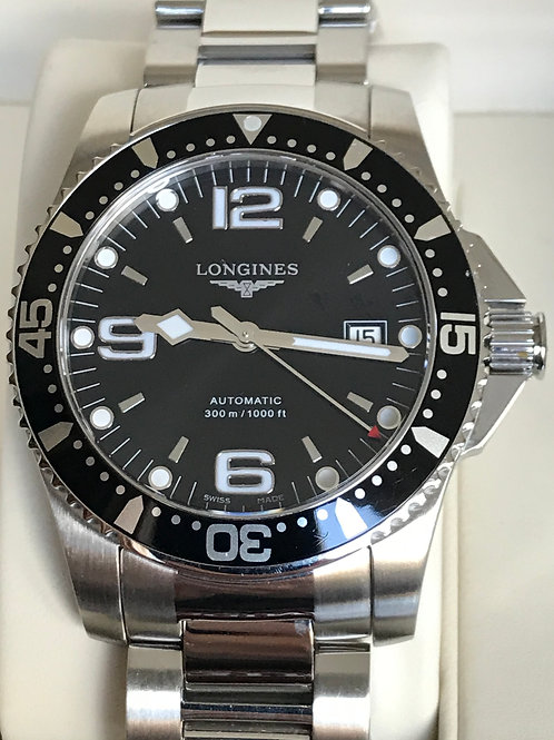 Longines HydroConquest 41mm Automatic Black LNIB Complete Set SOLD