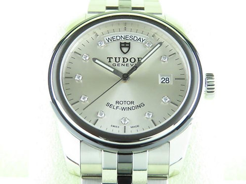 Tudor Glamour Day-Date 39mm Automatic Diamond Index Complete Set Full Warranty