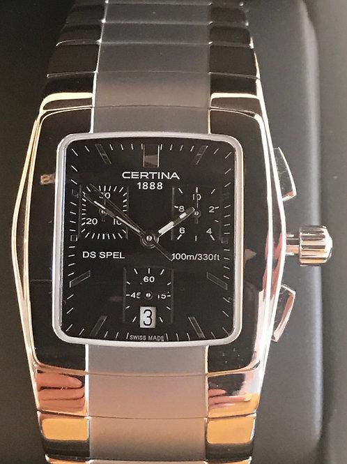 Certina DS Spel Chronograph Quartz Square BRAND NEW