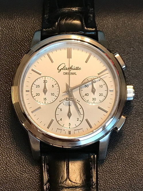 Glashutte Original Senator Chronograph Steel SERVICED In NEW Condition SOLD