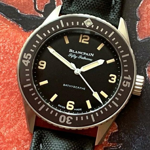 Blancpain Fifty Fathoms Bathyscaphe Hodinkee LTD ED 100 Pieces SOLD