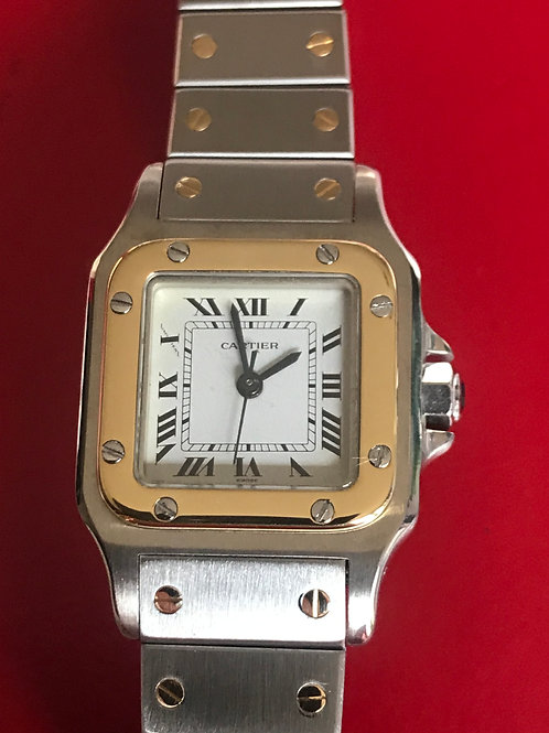 Cartier Santos Galbee Steel/Gold Automatic 23mm Seviced+Polished SOLD