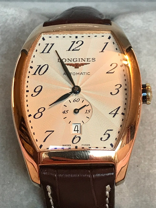 Longines Evidenza Automatic Rose Gold Mens Original Box No Papers SOLD