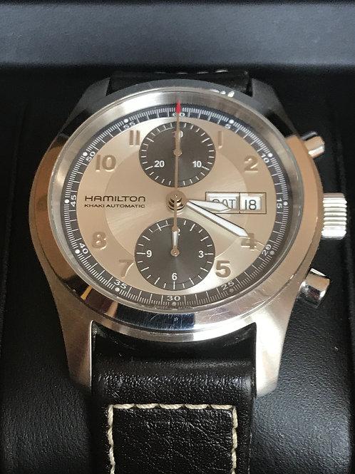 Hamilton Khaki Field Chronograph Day Date 42mm Automatic Valjoux 7750 Complete S
