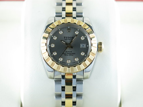 Tudor Classic Date Diamond Hour Marker 22013 Gold/Steel Ladies SOLD