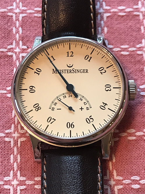Meistersinger Unomatik 1 Hand Power Reserve 45mm Complete Set Pristine Condition