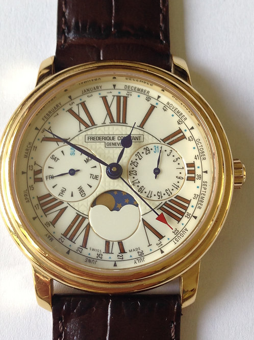 Frederique Constant Business Timer Yellow Gold Plated SOLD