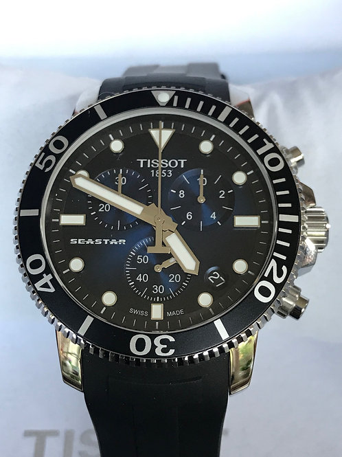 Tissot Seastar 1000 Chronograph Blue Dial Quartz NEW SOLD