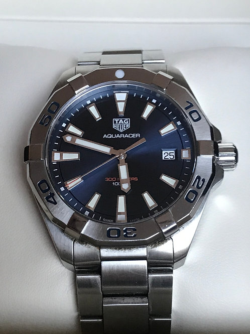 TAG Heuer Aquaracer 41mm Quartz Blue Dial Complete Set Unpolished SOLD