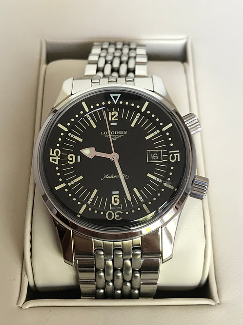 Longines Legend Diver Complete Set Mint Condition With Extra Steel Bracelet SOLD