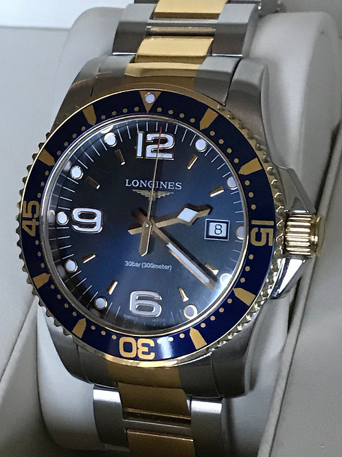 Longines HydroConquest Quartz Steel/Yellow Gold Plated PVD  Blue SOLD
