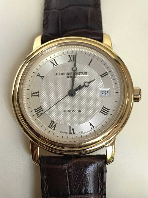 Frederique Constant Classics Automatic Yellow Gold Plated Complete Set SOLD