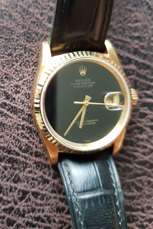 Rolex Datejust 16238 36mm Yellow Gold Onyx Dial VERY RARE SOLD