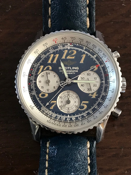 Breitling Navitimer Twin Sixty Dual Time Chronograph Blue Dial RARE SOLD