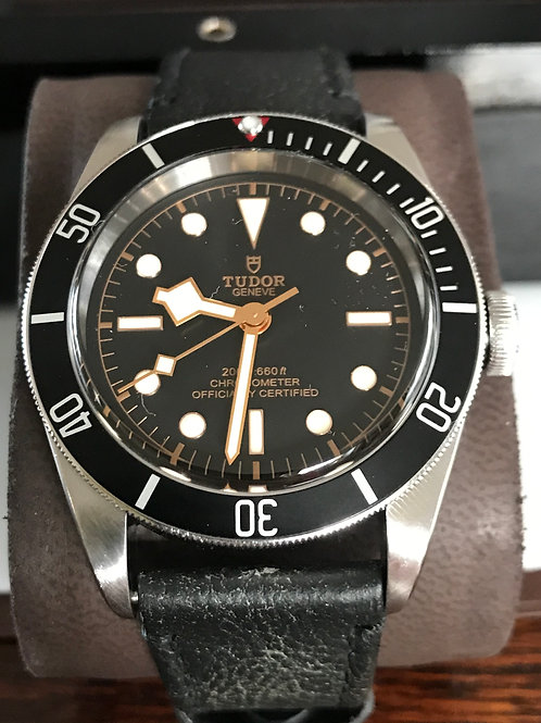 Tudor Heritage Black Bay 41mm Leather Strap Folding Clasp + NATO Strap SOLD