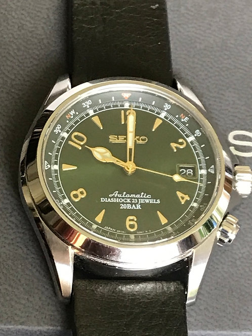 Seiko Spirit Alpinist Green Dial Rare Mint Extra Strap Complete SOLD