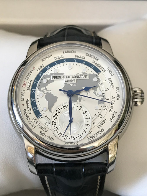 Frederique Constant Worldtimer Manufacture With Factory Warranty LNIB SOLD