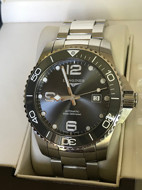 Longines Hydroconquest Ceramic Grey 43mm Automatic Complete Set Warranty SOLD