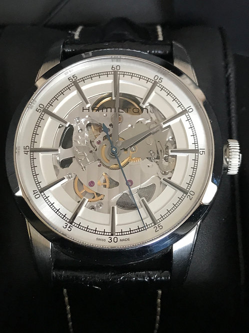 Hamilton Railroad Skeleton 42mm Automatic Steel Boxed No Paper + Extras SOLD