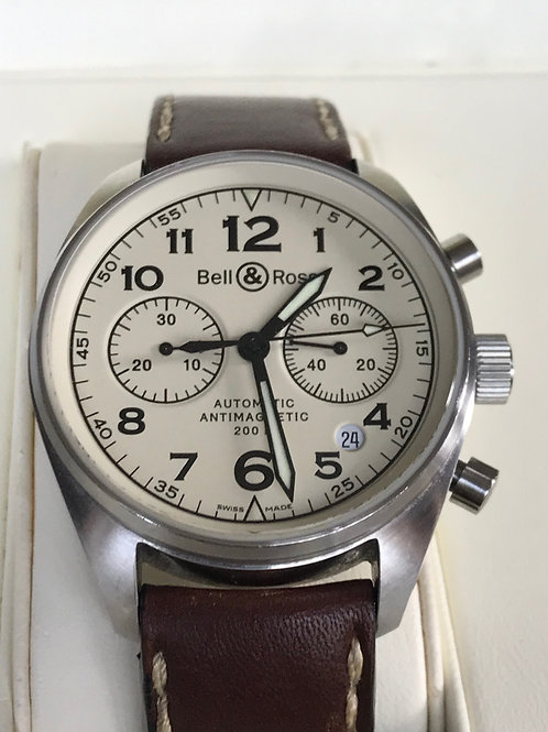 Bell & Ross BR126 Vintage Champagne Dial Automatic Complete Set SOLD