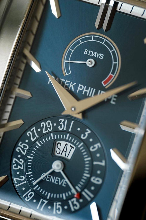 Patek Philippe Gondolo Calendar White Gold 32X47mm Blue Dial Full Warranty SOLD