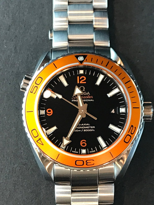 Omega Seamster Planet Ocean 45mm Orange Still Under Omega Warranty SOLD