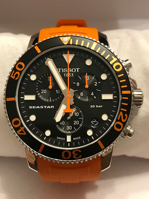 Tissot Seastar 1000 Chronograph Quartz 45mm Black & Orange LNIB Complete SOLD