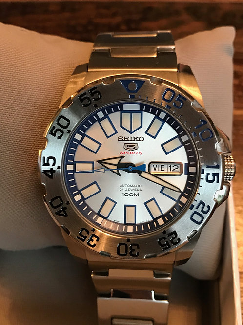 Seiko 5 Sports Snow Monster 43mm Automatic RARE Complete Set SOLD