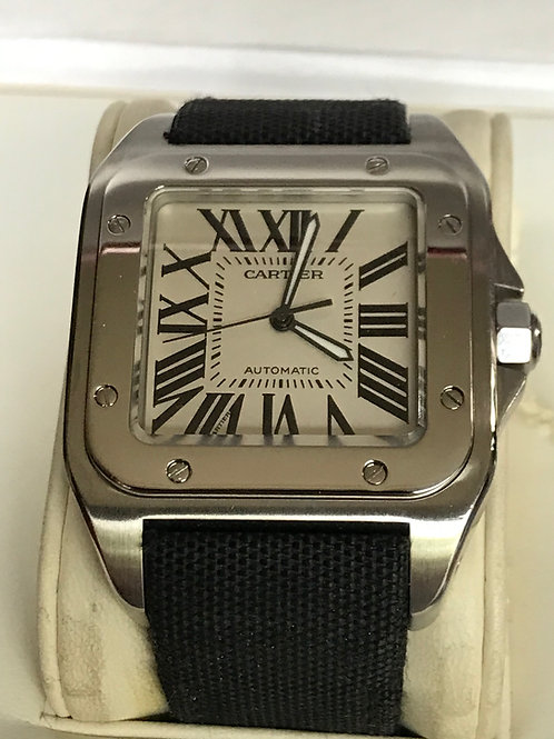 Cartier Santos 100 XL Automatic Steel 38mm Complete Set Polished + Extra SOLD