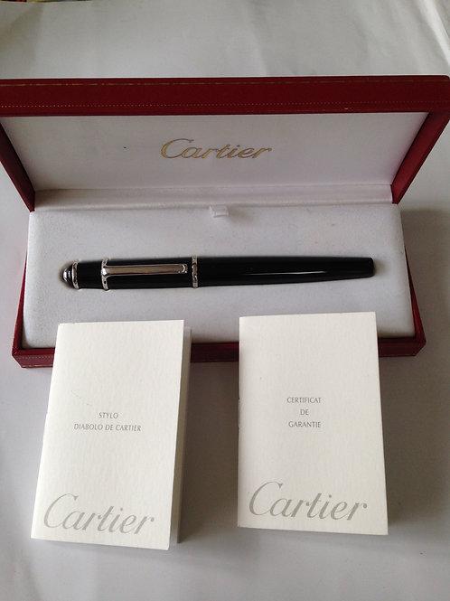Cartier Diabolo Black Composite Fineliner Pen
