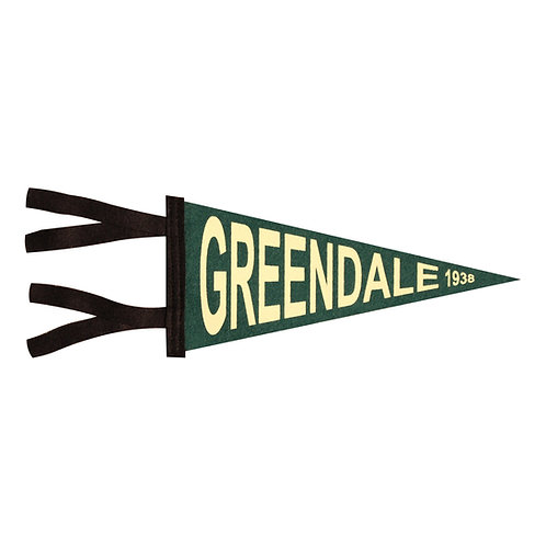"Greendale 1938 - 9"" Felt Pennant"